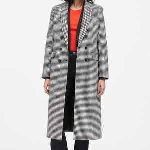 Banana Republic Houndstooth Double Breasted Coat